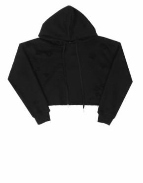 Black Crop Destroy Hoodie | sweat shirts | Toronto, Ontario, Canada