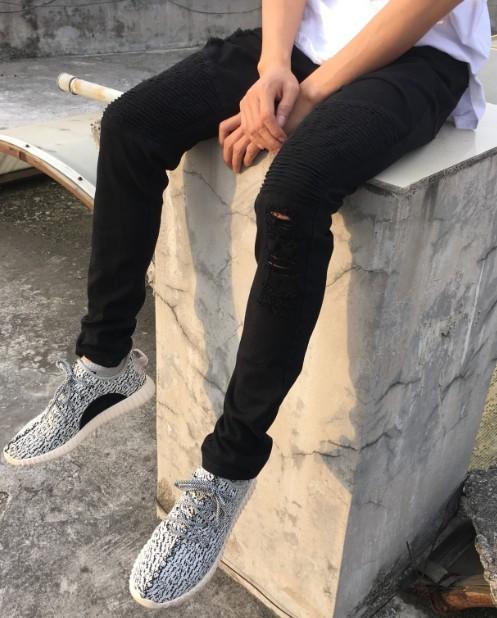 Black Ripped Biker Jeans | tuttsdesigns | Toronto, Ontario, Canada
