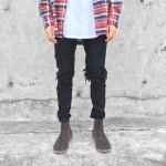 Destroyed Biker Jeans Black | tuttsdesigns | Toronto, Ontario, Canada