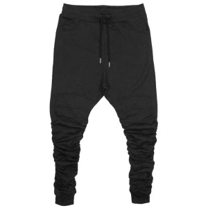 JOGGERS Black | Dropcrotch GATHERED | Toronto, Ontario, Canada