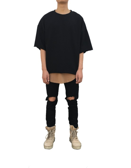 RAW SHORT SLEEVE SWEATER Black | T Shirts | Ontario, Canada