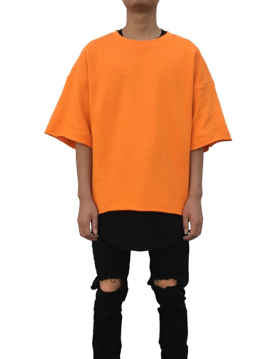 RAW SHORT SLEEVE SWEATER orange| T Shirts | Ontario, Canada