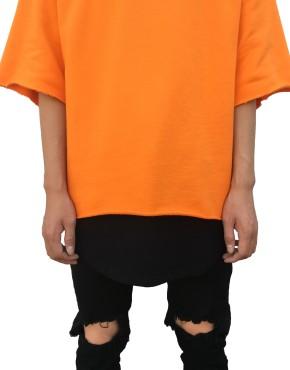 RAW SHORT SLEEVE SWEATER orange | T Shirts | Ontario, Canada