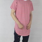 Red Striped T Shirt | Short Sleeves TShirt | Toronto, Ontario, Canada