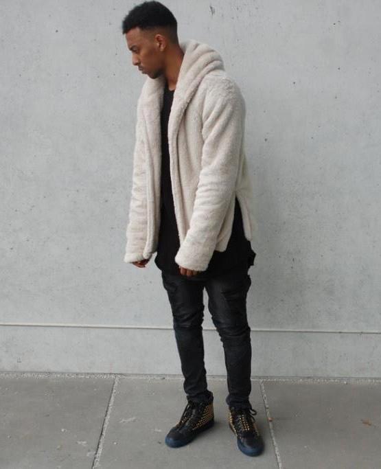 Sherpa Hoodie white | Sweat shorts Hoodies | Toronto, Ontario, Canada