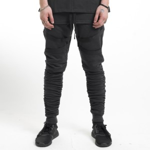 Strapped GATHERED JOGGERS Black | Toronto, Ontario, Canada