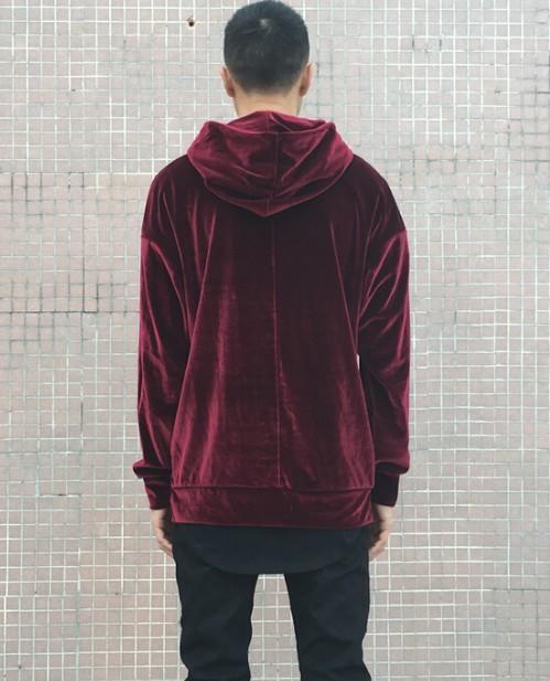Velour Hoodie Maroon | Sweat shorts Hoodies | Toronto, Ontario, Canada