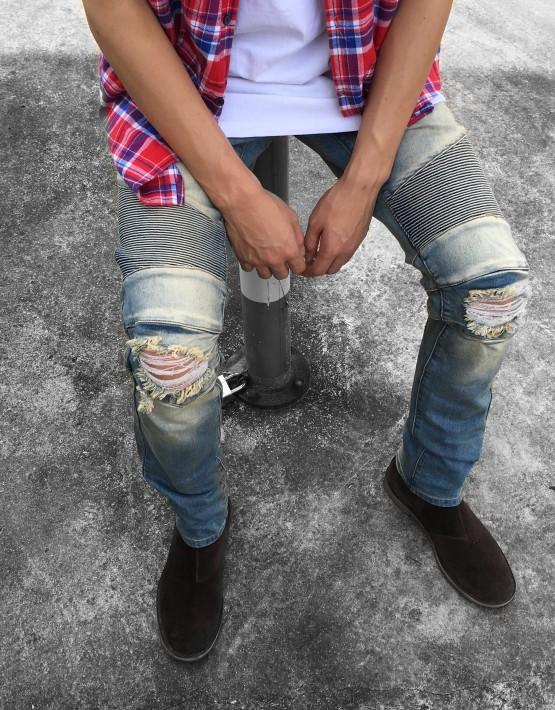 Biker Denim Jeans | Bottoms | Toronto, Ontario, Canada