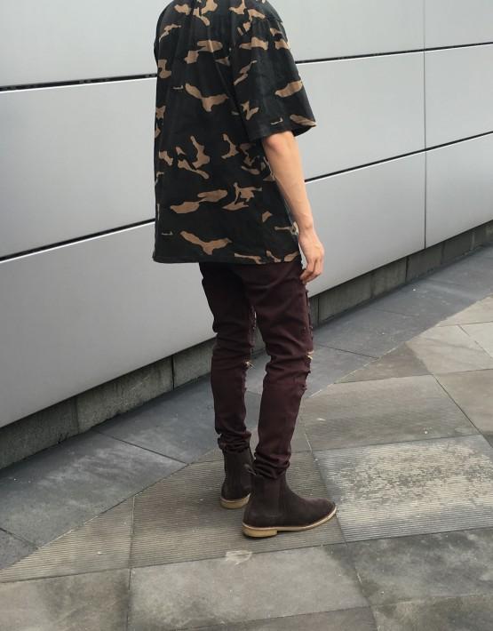 Distressed Zip Jeans | tuttsdesigns | Toronto, Ontario, Canada