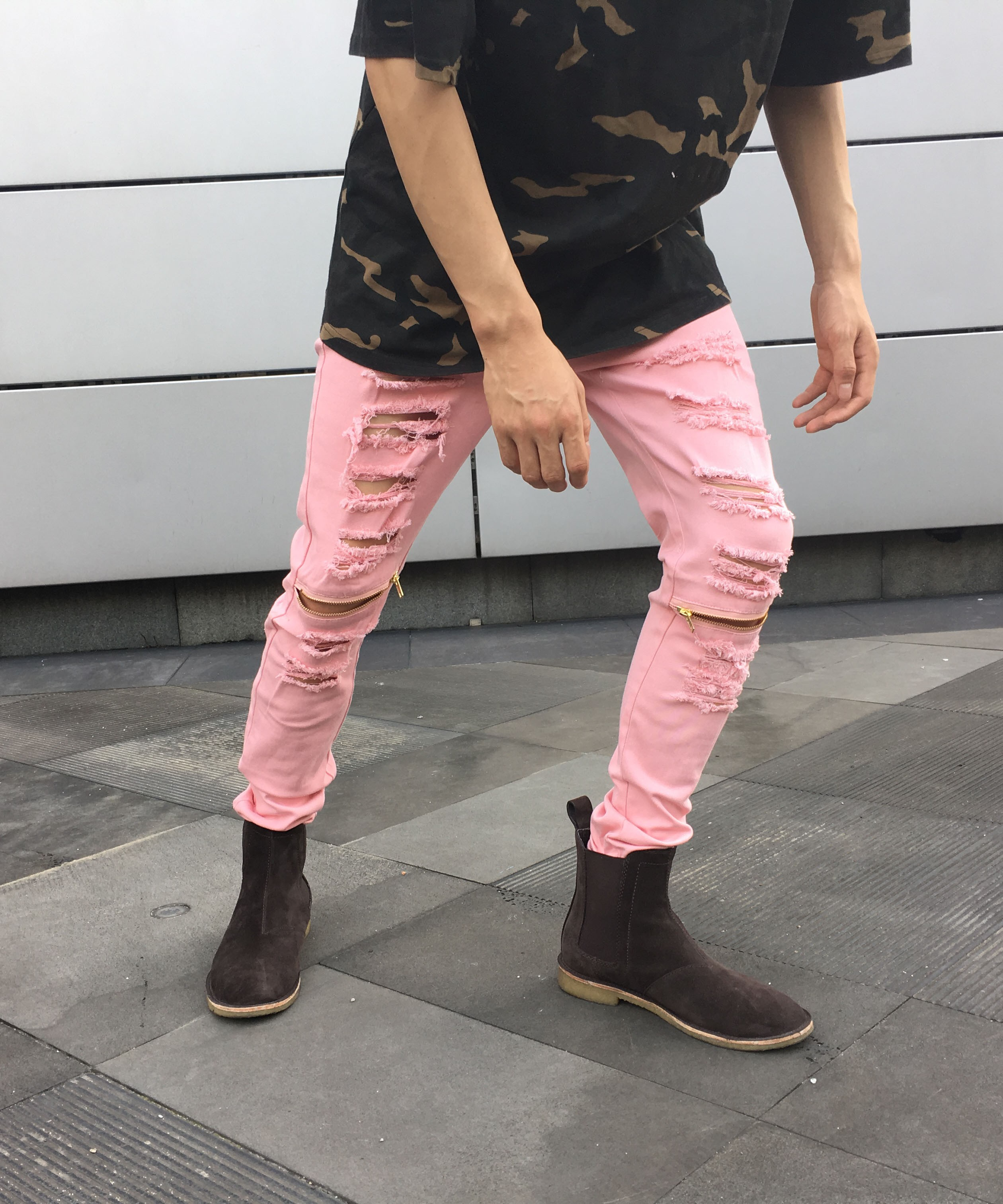 DISTRESSED ZIP JEANS | Bottoms | Toronto, Ontario, Canada