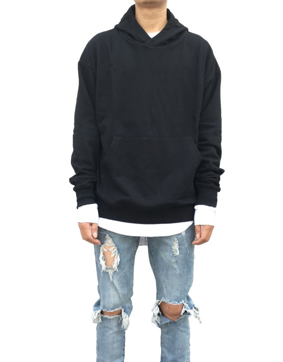 Pullover Hoodie Black | Sweat shorts Hoodies | Toronto, Ontario, Canada
