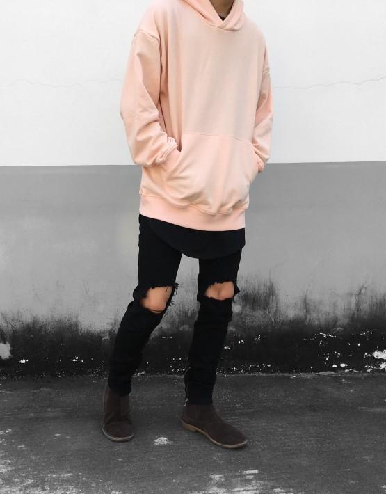 Pullover Hoodie Peach | Sweat shorts Hoodies | Toronto, Ontario, Canada