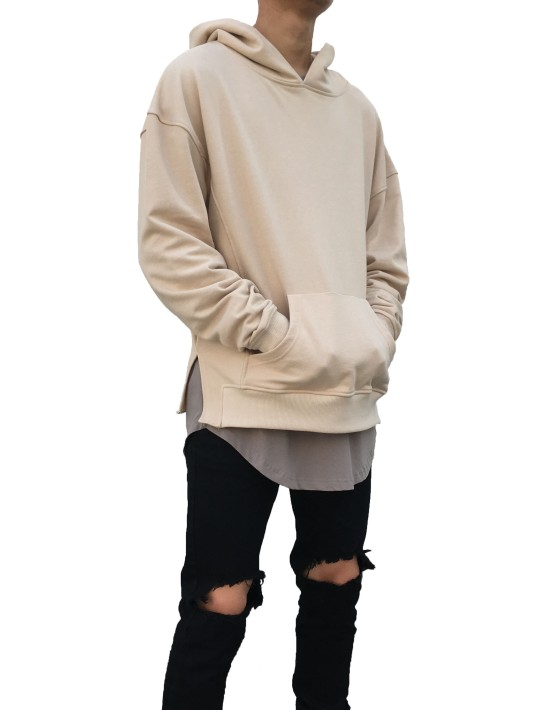 Side Split Hoodie sand | Sweat shorts Hoodies | Toronto, Ontario, Canada