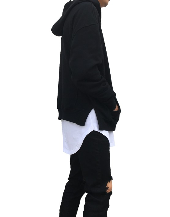 Side Split Hoodie Black | Sweat shorts Hoodies | Toronto, Ontario, Canada
