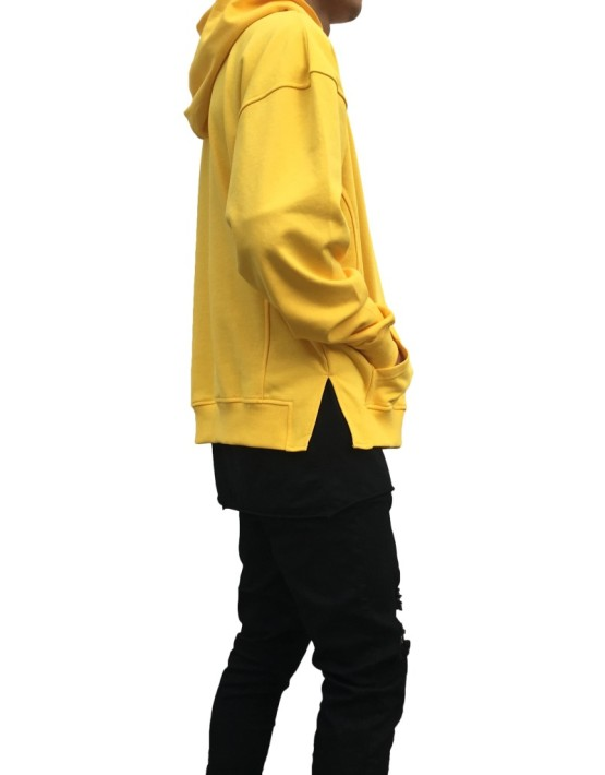 Side Split Hoodie yellow | Sweat shorts Hoodies | Toronto, Ontario, Canada