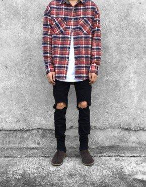 Ankle Zip Destroyed Jeans | Tuttsdesigns | Toronto, Ontario, Canada
